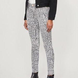 NWT FRAME High Skinny Abstract Animal-Print Jeans
